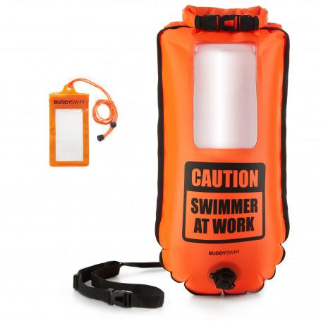 Drybag BuddySwim Smartphone Buoy, Orange