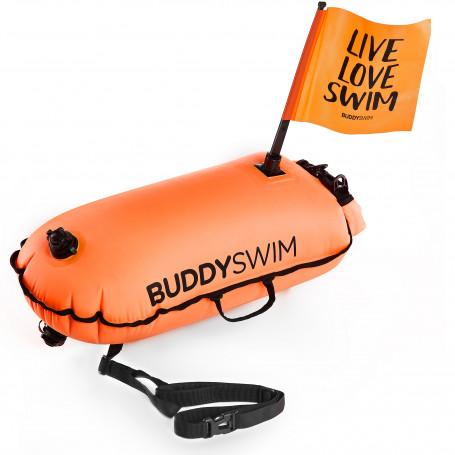 Boya Drybag BuddySwim with Flag, Naranja